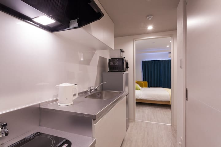 フローラルダブル<26㎡> キッチン・洗濯機・ガス乾燥機・バストイレ個室別・Wi-Fi・VOD無料