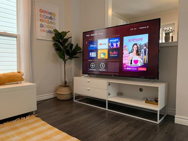 65 inch UHD 4K smart TV