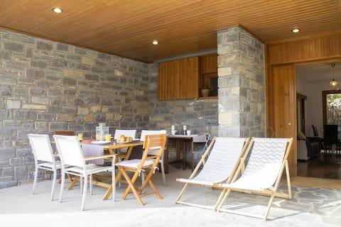 Ski terraced villa with views&parking
