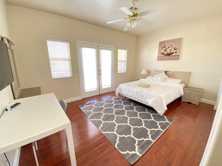 Lovely Queen Size Bedroom with Balcony