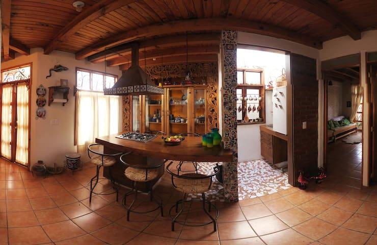 Fully decorated house in Patzcuaro, México.