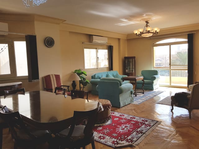 2BR Sunny Apartment in  Choueifat, New Cairo