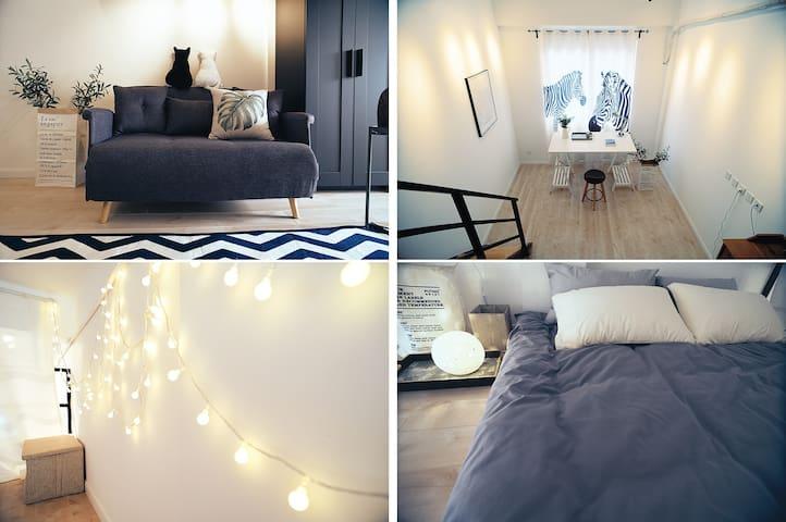 大都市•【小团圆】正市中心LOFT公寓~新屋上线优惠月 - Shanghai - Apartemen