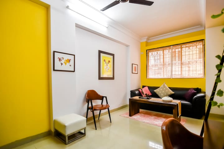✴Charming Nest in Bandra - Wifi, AC, B&B✴