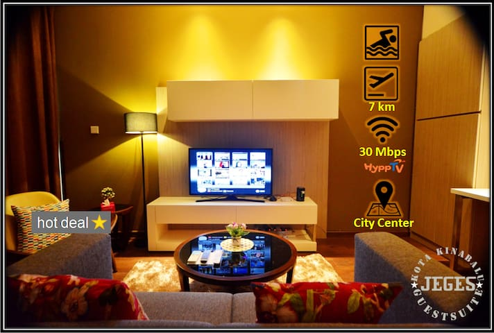 Cozy SOHO Suite with WIFI @ City Center/Imago Mall - Kota Kinabalu