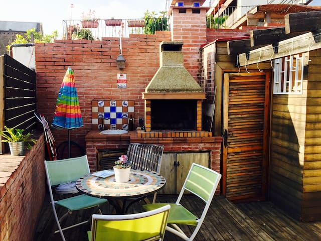 Lovely&Cozy Single Room Borne District w/ Rooftop - Barcelona - Leilighet