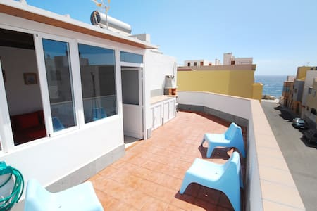Duplex with sea view terrace close to promenade - Arinaga