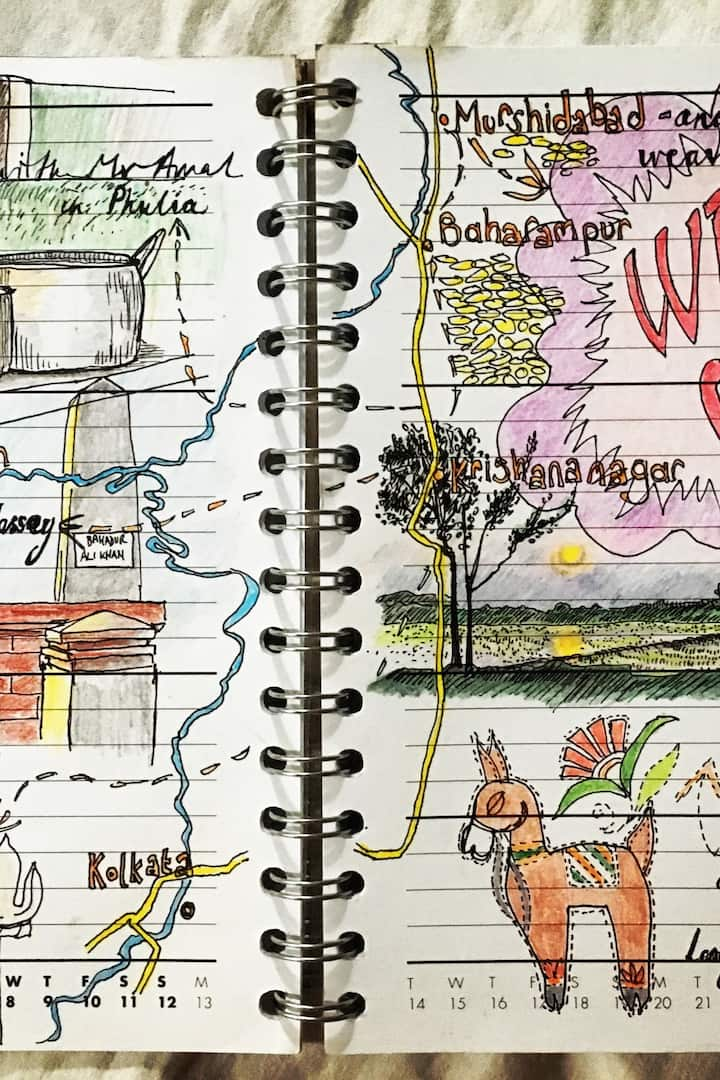A page from 2017 drawing diary.
