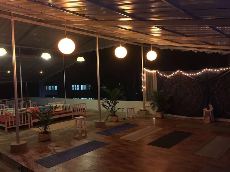 Yoga space by night