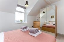 Double bedroom with wardrobe