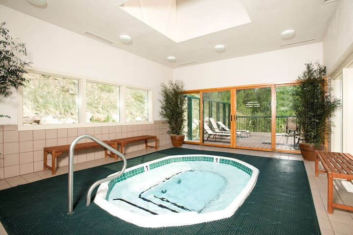 Spacious Condo with Full Kitchen, Hot Tub Access, Shuttle Service + Ski Storage