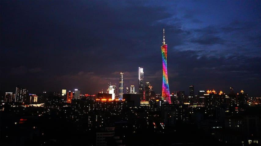 """""""清城""""/清新一房一厅/Canton Tower广州塔/客村/广交会/CBD/Canton fair"""