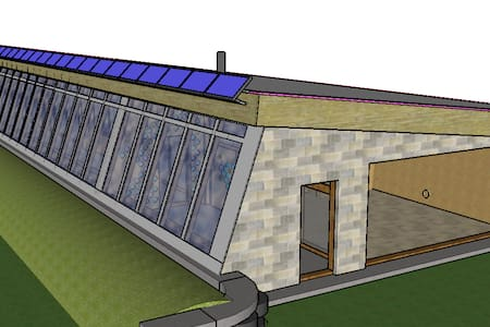 Earthship-Inspired Holistic Home --Off Grid