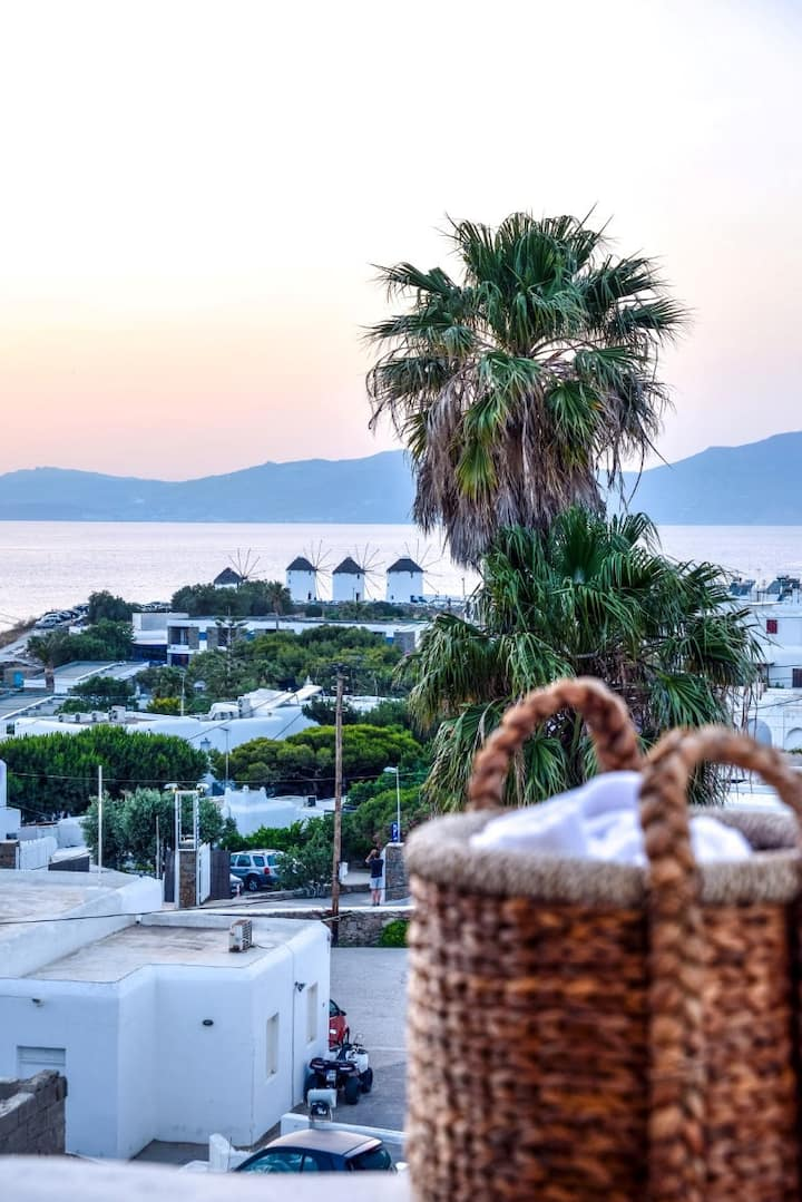 Sunset Room with Sea View in Mykonos Town