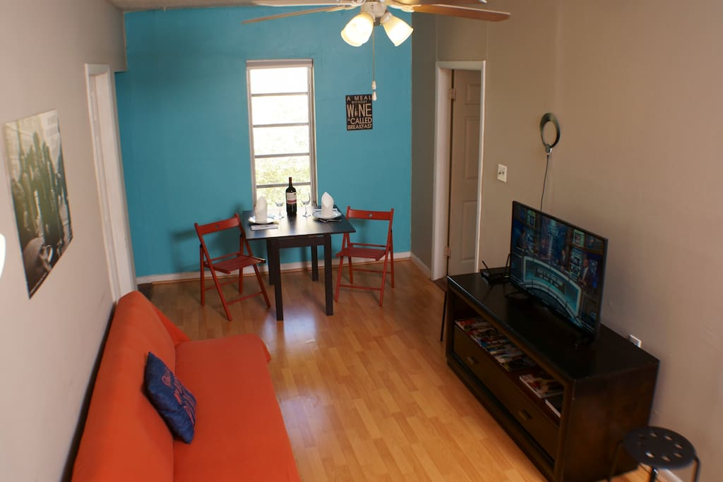 The living room area is a great area to lounge and relax