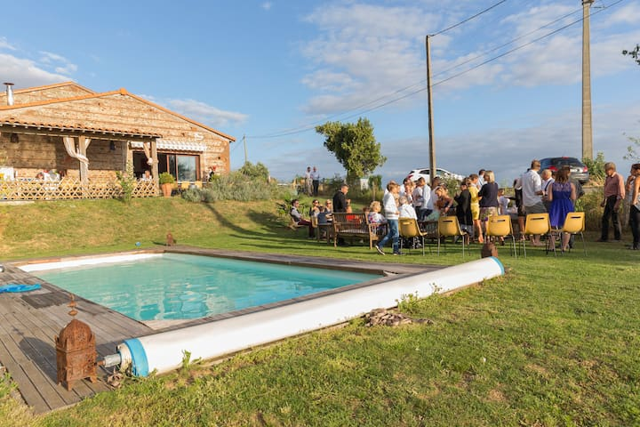 Renovated farm-typical of the region-swimming pool - Auragne - Casa
