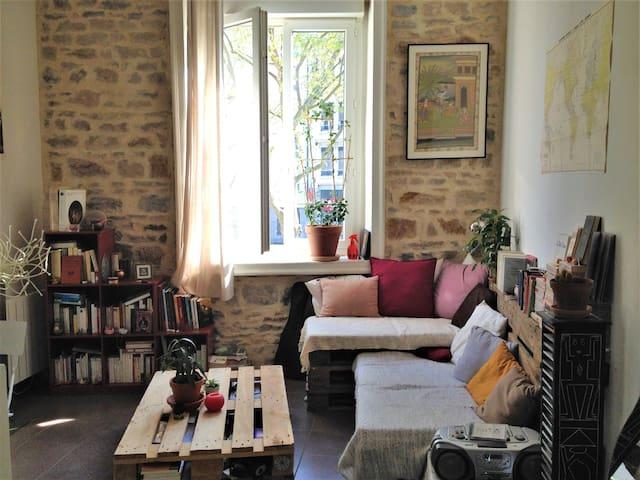 Studio de charme à 2 pas du centre de Lyon ! - Lyon - Apartment