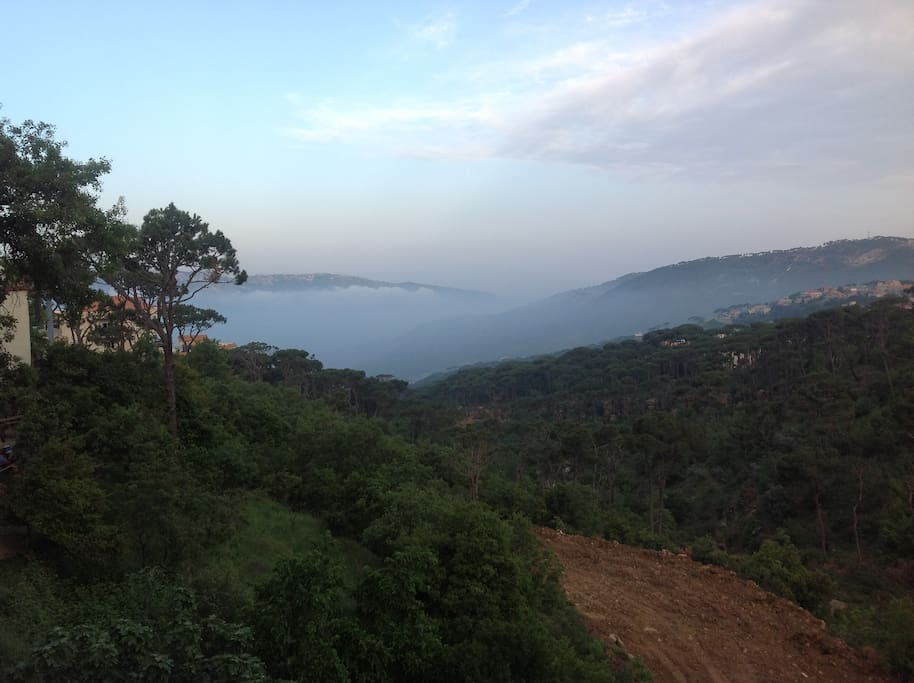 Nice view from the balcony over mount of Lebanon