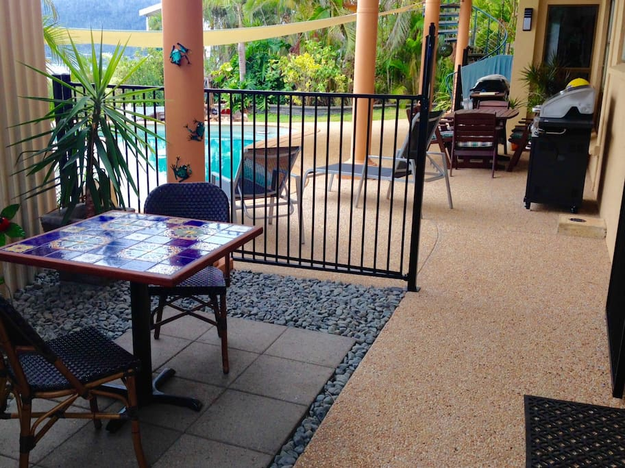 Private Outdoor Setting & BBQ