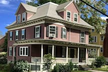 Huge Victorian home contains two apartments. This listing is for the 2nd and 3rd floors: 10 rooms, 6 bedrooms