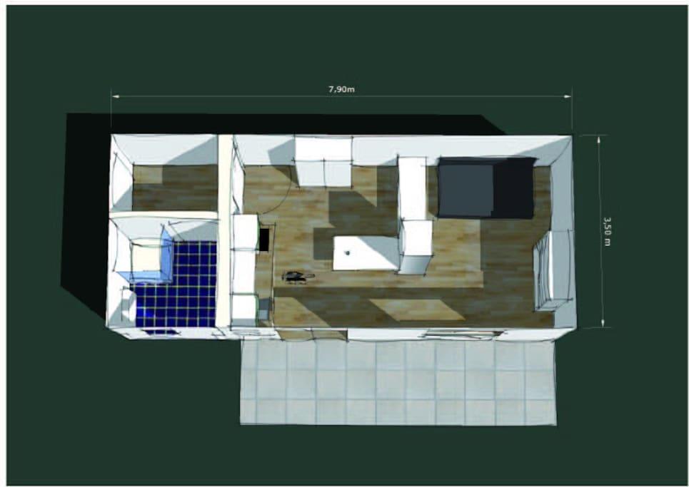 Rückgebäude mit smarter Aufteilung