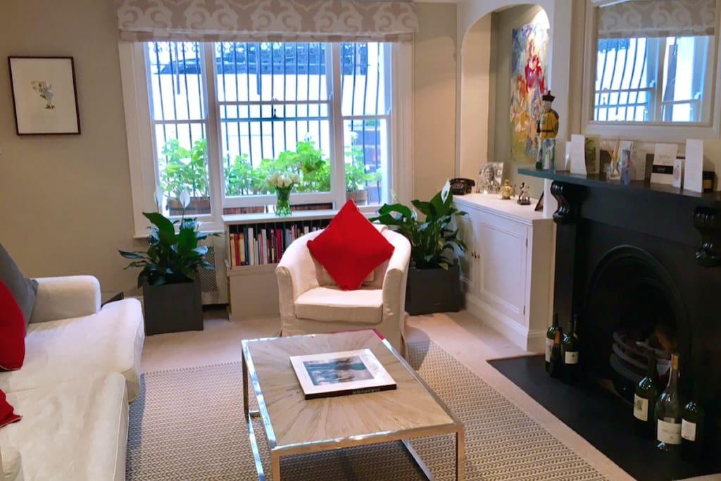 Light-filled, comfortable sitting room