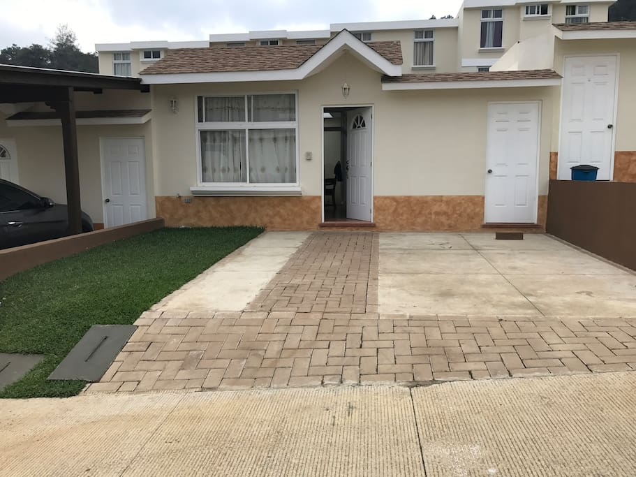 Driveway and Front Entrance