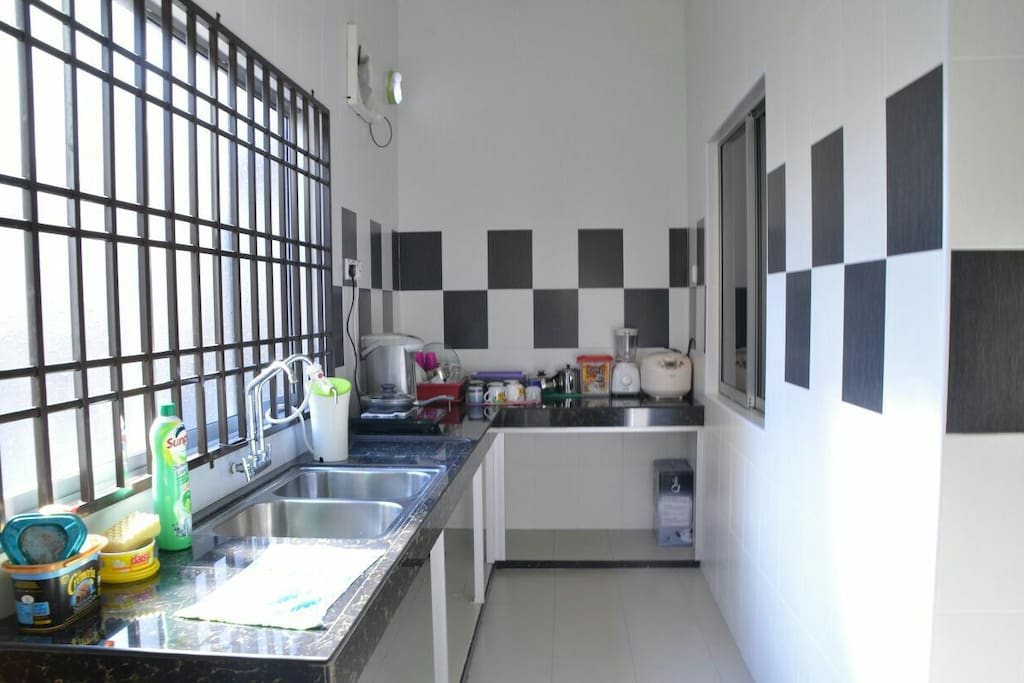 Kitchen with basic amenities