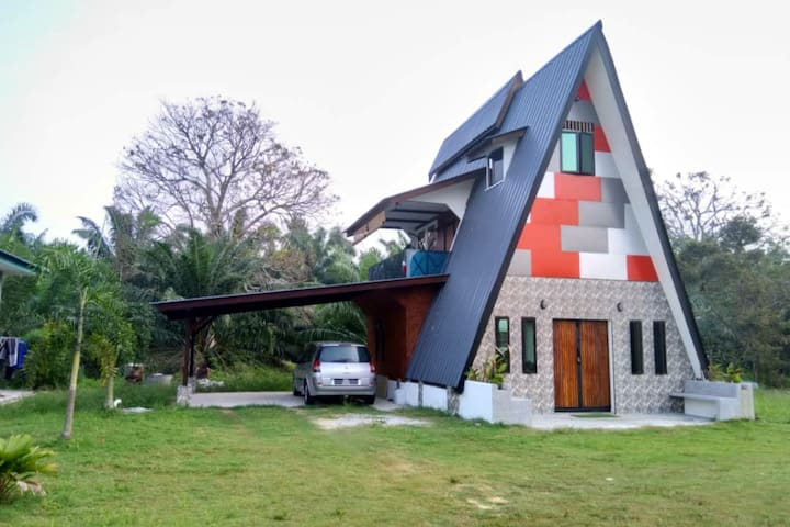 A-shape guest house with unique architecture
