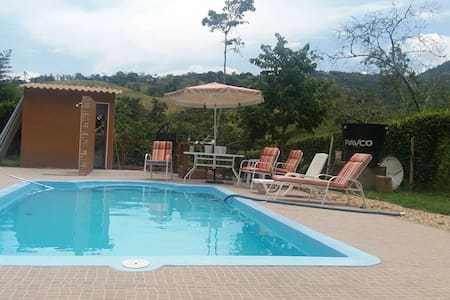 Zona camping, camping grounds. Pool - Nocaima - Maison