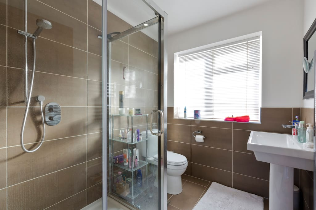 Walk in two person shower
