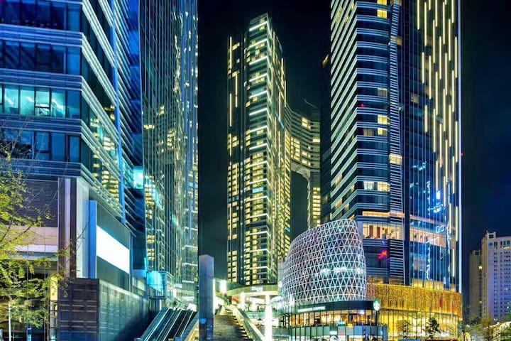 【太古里】春熙路.天府广场.太古里.IFS 恒大高端住宅 两居 - Chengdu - Casa