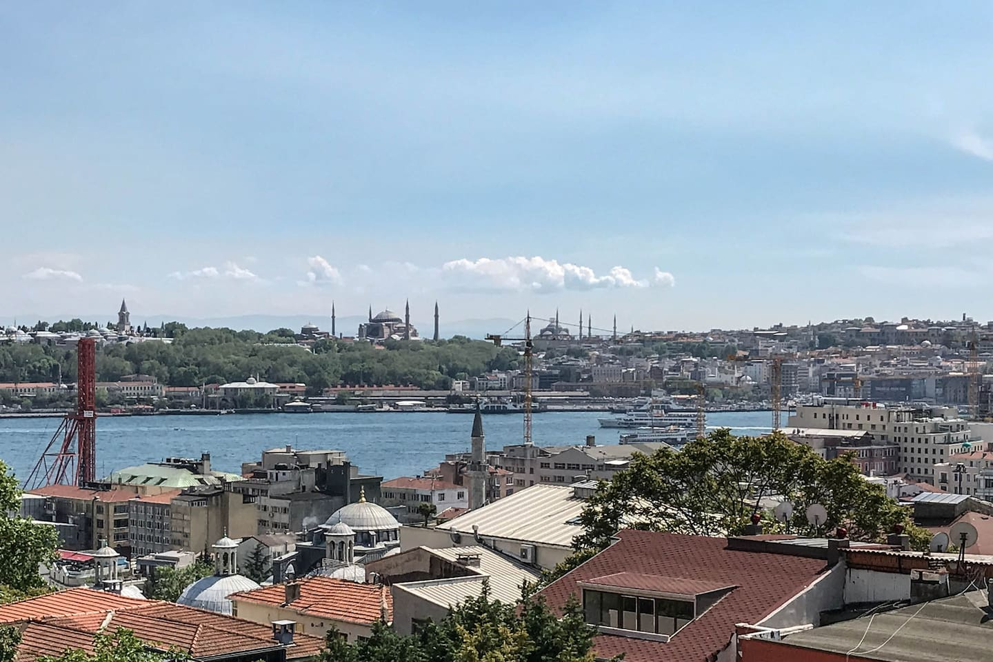 Bedroom View of Haghia Sophia and Topkapi Palace over Golden Horn