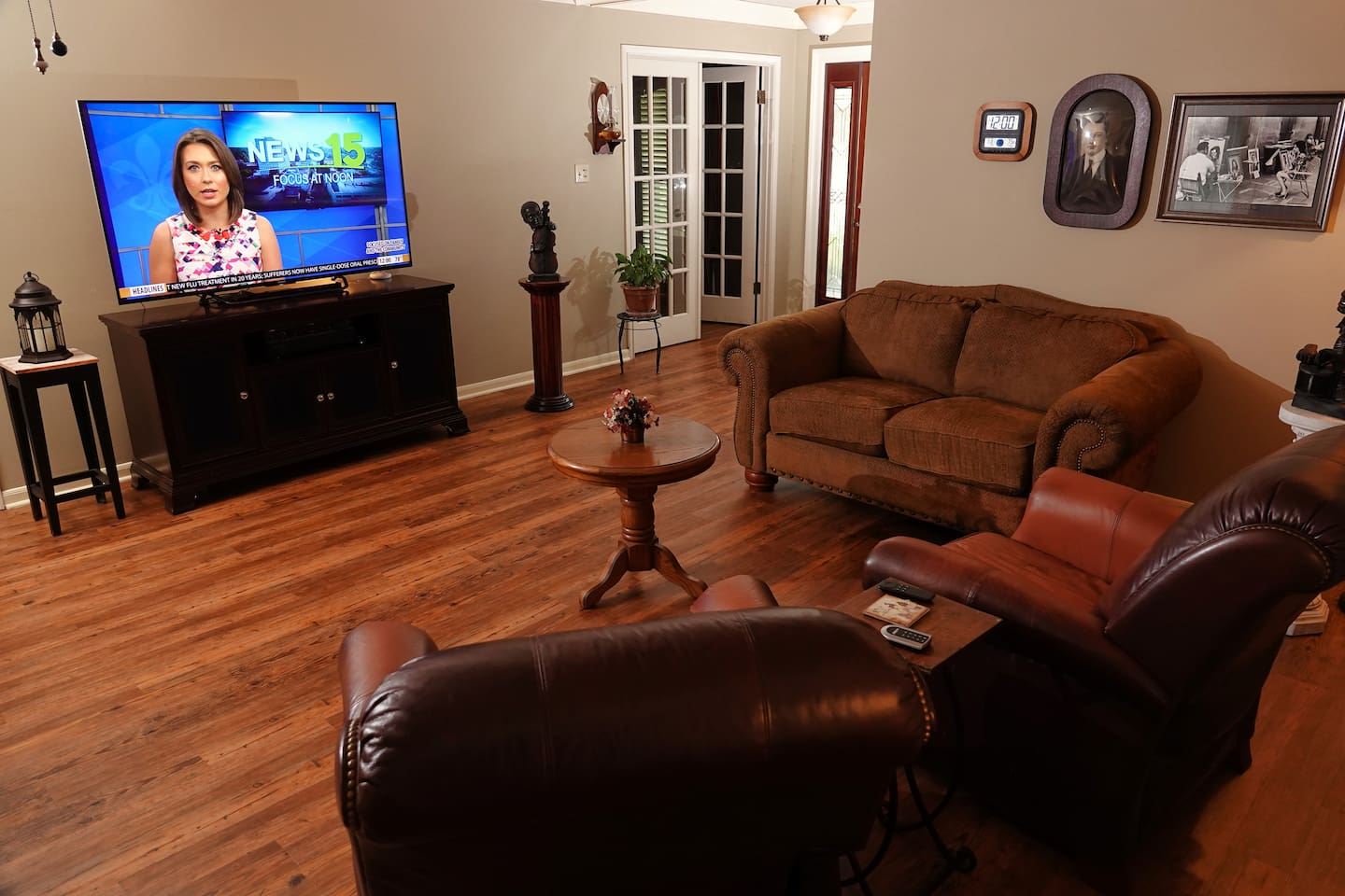"""Living Room with 65"""" 4K TV"""