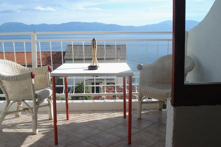 One bedroom apartment with balcony and sea view Brist, Makarska (A-506-f)