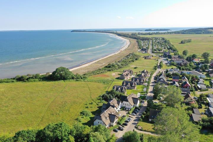Luftbild vom Strandhaus