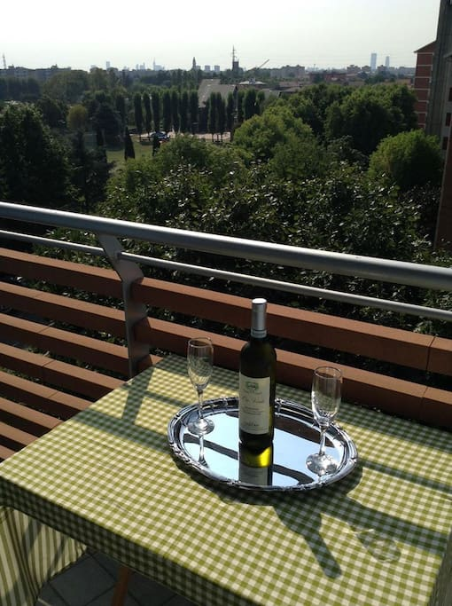 Relax on your own private balcony after your all day visit of Milan