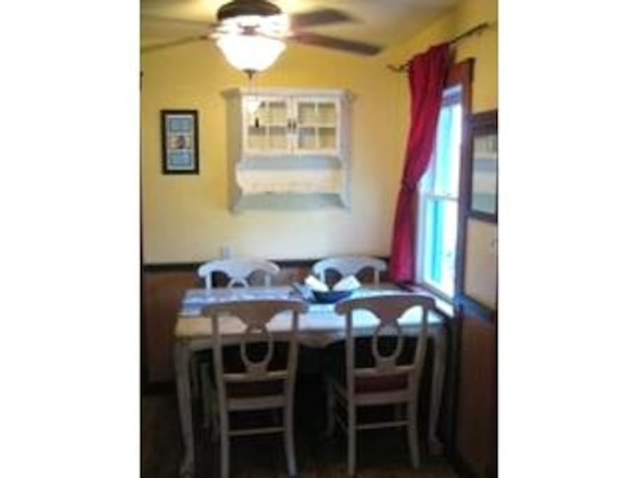Dining area in guest cottage