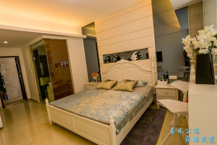三亚嘉禾公寓温馨大床房 - Sanya - Huoneisto