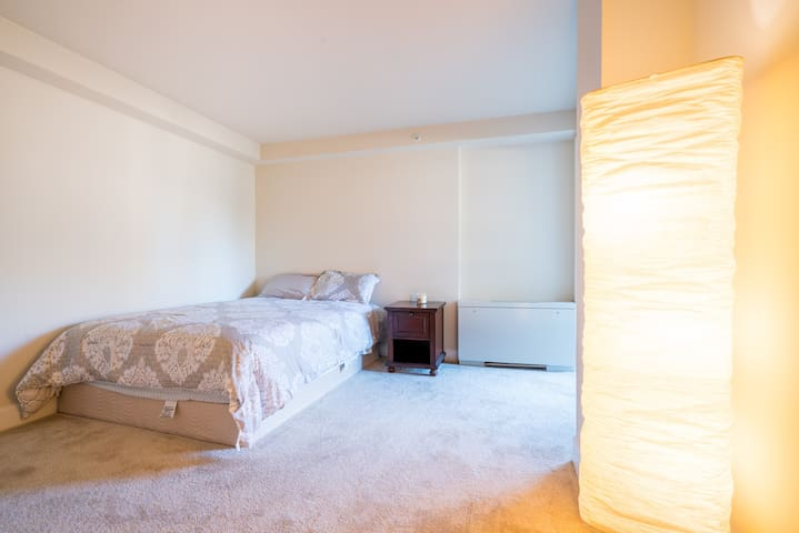 Uncluttered bedroom