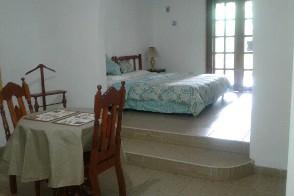 Very Spacious room with Tv, king size bed and small dining table,