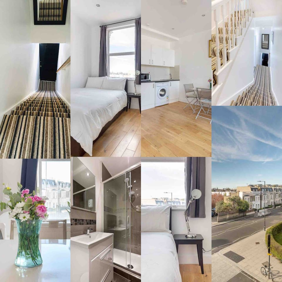 2nd floor bedroom- single person occupancy only, set in a beautiful modern- yet minimalist flat situated in the trendy West London region of Askew Road.   Due to narrow stairs please note that we ask you ensure this is no issue prior to booking.