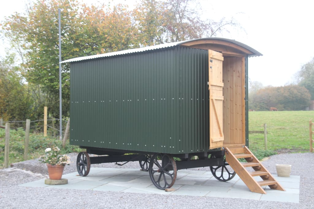 Another view of the shepherds hut.