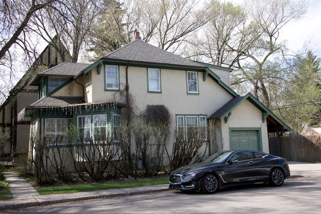 Attached garage, driveway and lots of free, street parking.