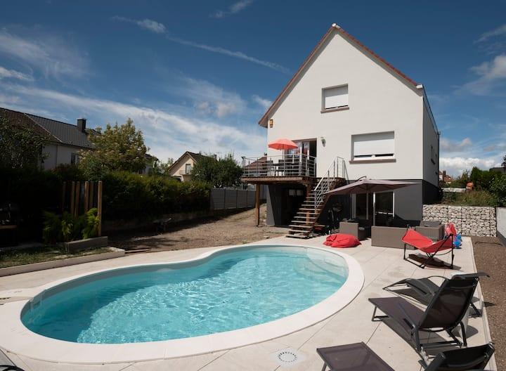 Studio avec piscine aux portes Strasbourg
