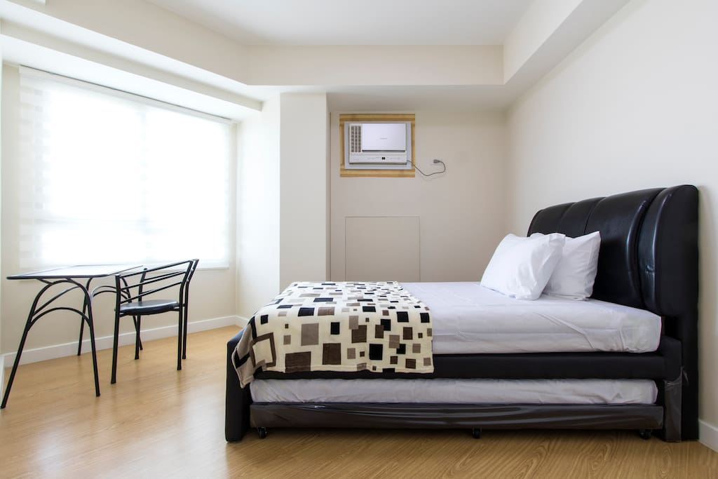 Moderately sized but spacious Bedroom.