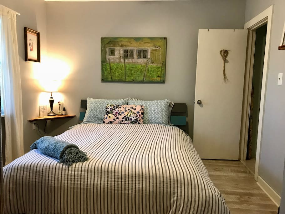 Your private bedroom with local art
