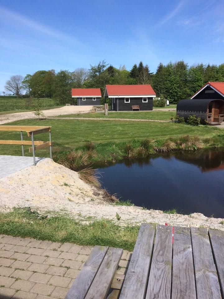 Hytte i landlige omgivelser