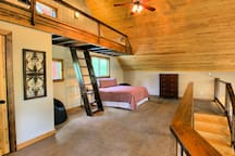 Loft area with enough room to even have an air mattress if needed.