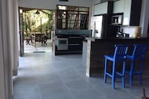 Area da cozinha.